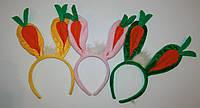 Обруч ушки зайчика с морковкой , игрушка