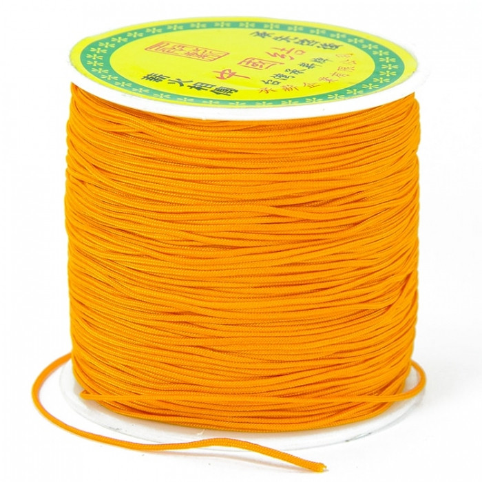 Шнур Нейлоновый, Цвет: Оранжевый, Размер: Диаметр 0.8мм/ Упак.: 20 м