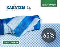 Сітка для затінювання біло-блакитна 65% (6*50м)
