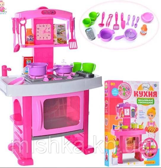 """Детская игровая кухня """"Маленької господині"""" Limo Toy 661-51, звук, свет, размером 61-42-25см"""