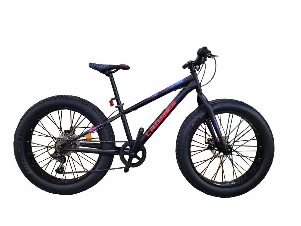 """Велосипед Crosser, колёса 24''х4,0"""", фэтбайк, горный, рама прямая 13"""", спортивный"""