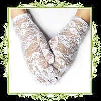 Перчатки ажурные короткие
