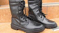 Ботинки (берцы)зимние черные кожаные  мужские