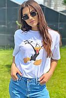 Популярная футболка с Даффи Дак LUREX - белый цвет, M (есть размеры), фото 1