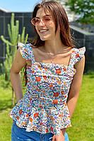Стильная женская блузка YI MEI SI - белый цвет, L (есть размеры), фото 1