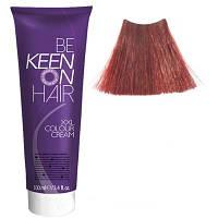 Крем краска Mittelblond Kupfer-Rot - 7.45 Натуральный медно-красный блондин Keen Color Cream XXL 100 мл.