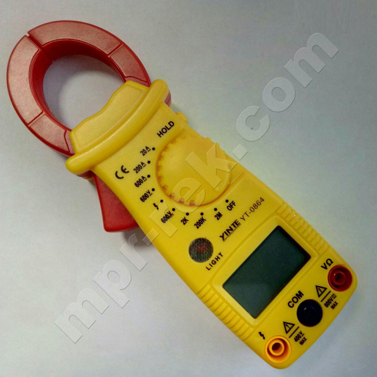 Токоизмерительные клещи YINTE YT-0864 (600A, 600В, 2МОм)
