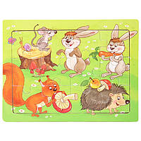 Деревянная игрушка Пазл «Лесной совет», 12 дет., развивающие товары для детей.