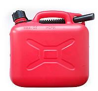 Канистра пластиковая 5 литров для бензина с лейкой