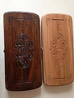 Нарди дерев'яні ручної роботи з горіха 30*16 см, фото 1