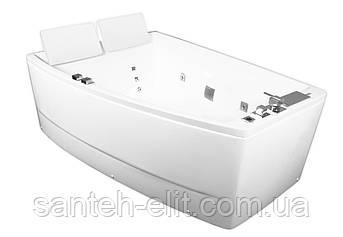 Ванна 170*120*63см асимметричная, левая, с гидро и аэро массажем