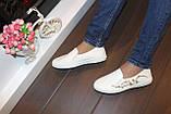 Слипоны белые женские с вышивкой Т262, фото 9