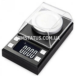 Высокоточные цифровые весы TN-100 (100г / ±0,001 г) с калибровочной гирей, защитная крышка