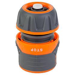 """Коннектор ½"""" быстросъёмный для шланга ½"""" аквастоп с замком FLORA 5015434"""