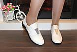 Туфли женские бежевые натуральная кожа Т018 Уценка, фото 5