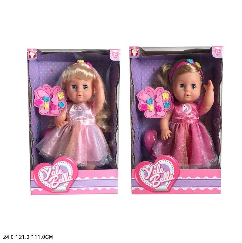 Кукла YL1868B (24шт/2) 2 вида, расческа,аксессуары, в кор.24*21*11