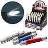 Фонарик MK 4269-5 (144шт) брелок, 9,5см, свет, стилус, на бат-ке, 24шт(4цвета)в дисплее (за упаковку