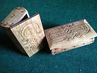 Дерев'яна шкатулка для прикрас ручної роботи 20*11*6 см