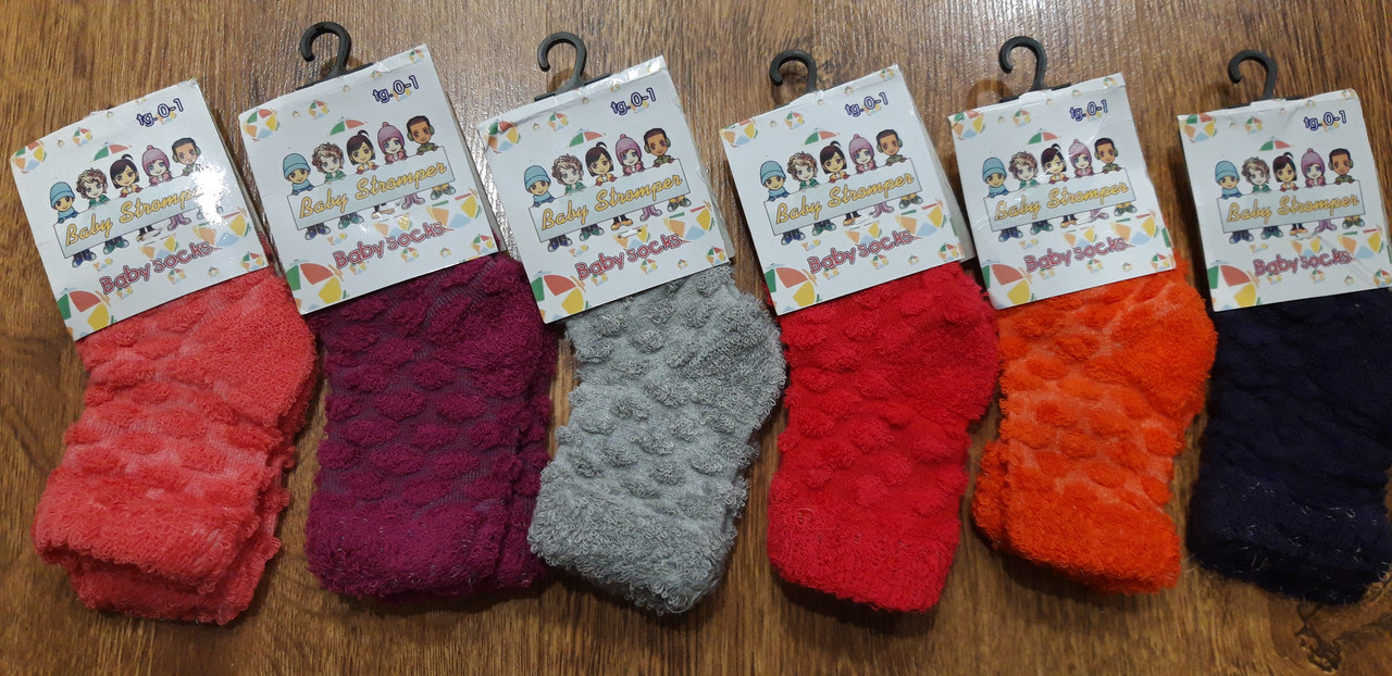 """Дитячі шкарпетки,махра назовні""""Baby Stromper"""" Туреччина 0-1 рік,уцінка"""