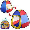 Палатка M 5747 (24шт) пирамида80-80-90см, 1вход на липучке, окно-сетка 2шт, в сумке,36-33-5см