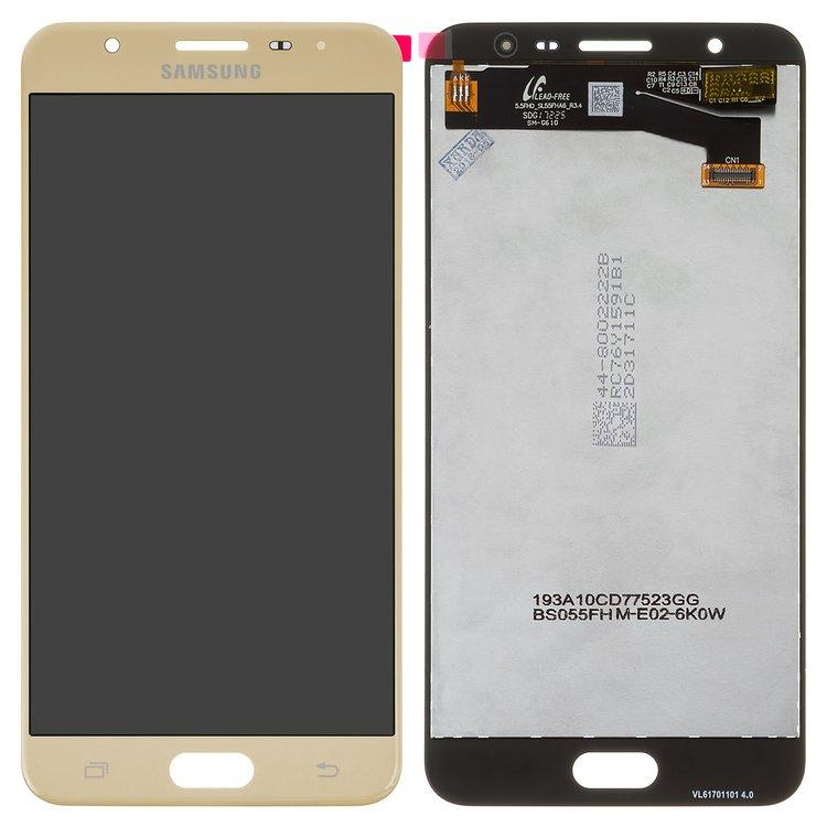 Дисплей для Samsung G610 Galaxy J7 Prime TFT (подсветка оригинал) с тачскрином, золотой