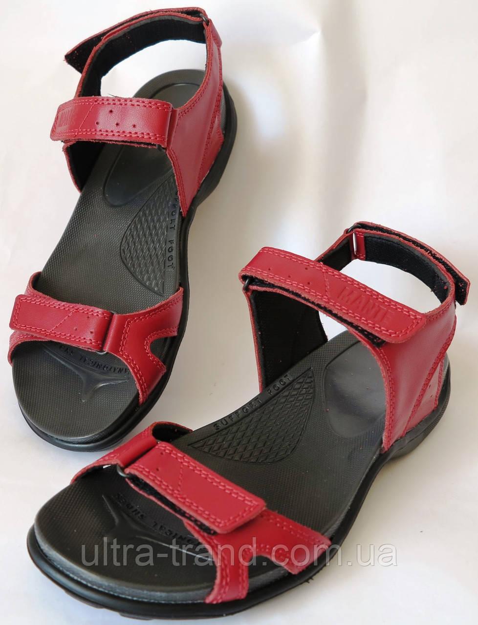 Mante Xbiom! Кожаные подростковые летние сандалии босоножки