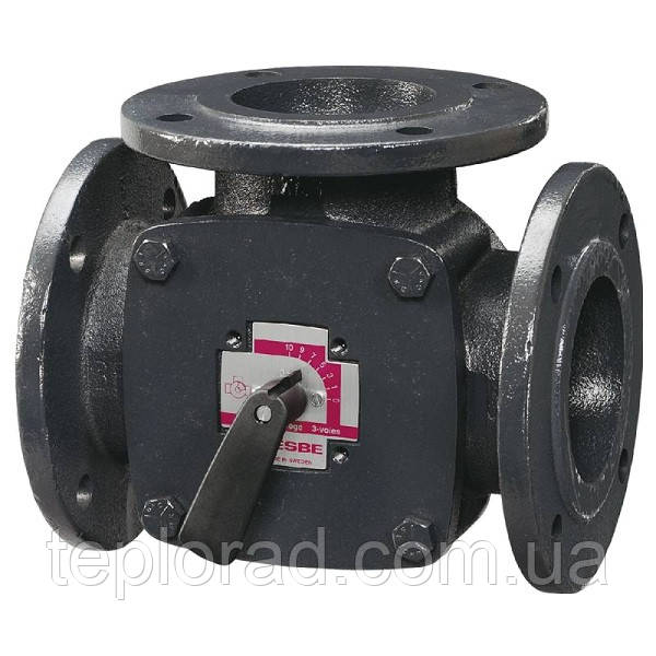 Поворотный смесительный 3-ходовой клапан ESBE F DN40 kvs 44 (11100400)