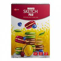 Альбом для скетч-маркеров Santi,A3 32 листа 130 г/м 742751
