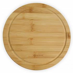Доска для пиццы Vincent круглая бамбук 24 х 24 х 1,2 см 2103-24 VC