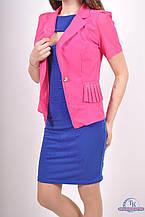 Пиджак женский (сетка с гипюром) цв.малиновый 8826 Размер:46