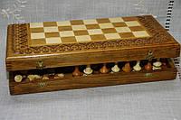 Шахмати ручної роботи з горіха різбленні ч 3 в 1