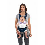 Эрго рюкзак-кенгуру для детей нагрудная сумка Chicco Soft & Dream Синий слинг шарф переноска для новорожденных, фото 4