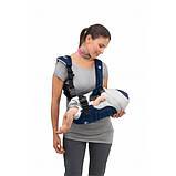 Эрго рюкзак-кенгуру для детей нагрудная сумка Chicco Soft & Dream Синий слинг шарф переноска для новорожденных, фото 7