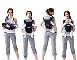 Эрго рюкзак-кенгуру для детей Mothercare 4 Positions Синий слинг шарф переноска для новорожденных, фото 4
