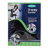 Эрго рюкзак-кенгуру для детей Mothercare 3-way Carrier Черный слинг шарф переноска для новорожденных, фото 5