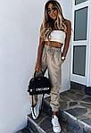 Женские штаны, костюмка летняя, р-р 42-44; 44-46 (бежевый), фото 2