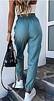 Женские штаны, костюмка летняя, р-р 42-44; 44-46 (бирюзовый), фото 2