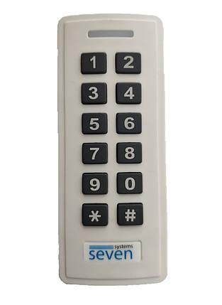 Контроллер + считыватель с кодовой клавиатурой SEVEN CR-7467w, фото 2