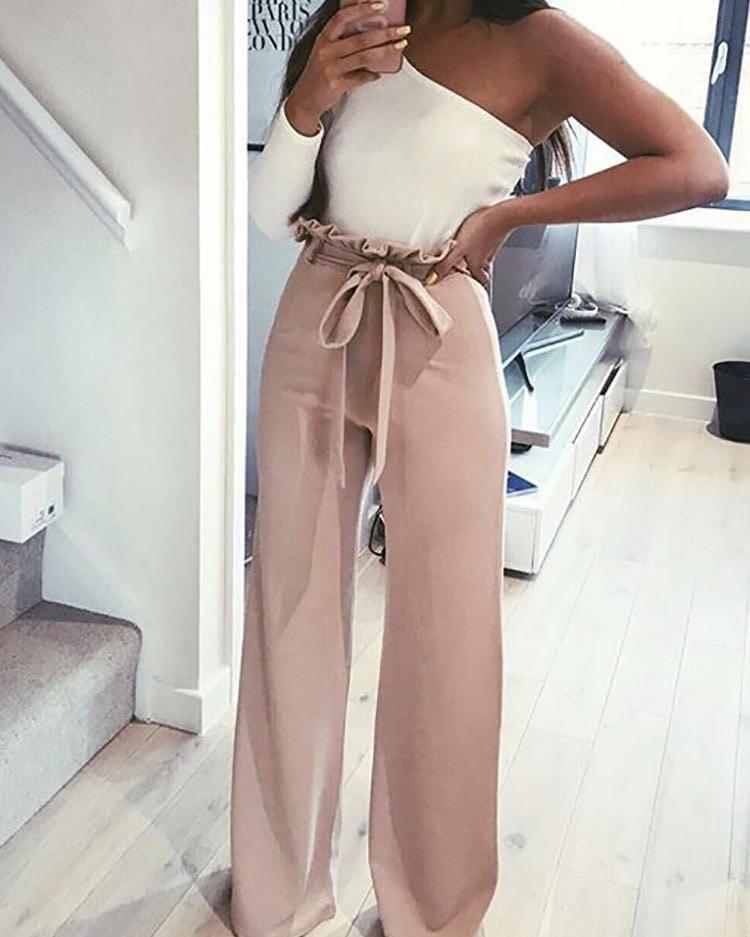 Женские брюки, костюмка класса люкс, р-р 42; 44; 46 (пудровый)