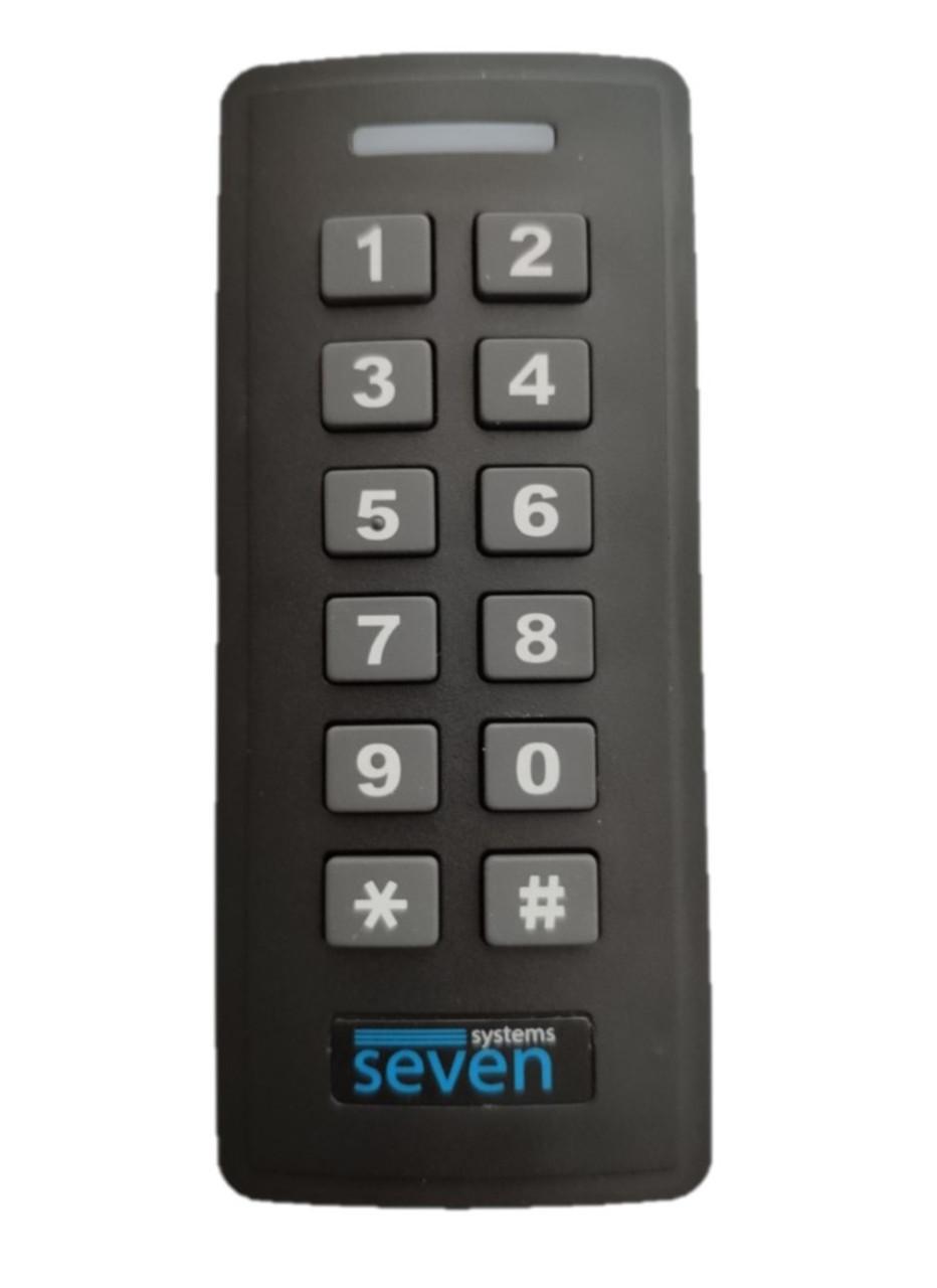 Контроллер + считыватель с кодовой клавиатурой SEVEN CR-7467b