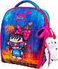 Рюкзак школьный ортопедический для девочки 1-4 класс каркасный Delune 7mini-016 пенал сумка и мишка в подарок