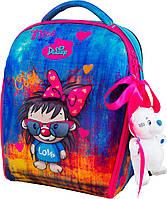 Рюкзак школьный ортопедический для девочки 1-4 класс каркасный Delune 7mini-016 пенал сумка и мишка в подарок, фото 1