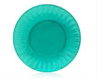 Тарелка. одноразовая. стекловидная. зеленая (10 штук).