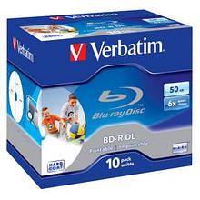 Диск BD Verbatim DL 50Gb 6x Jewel 10шт Wide Printabl (43736)