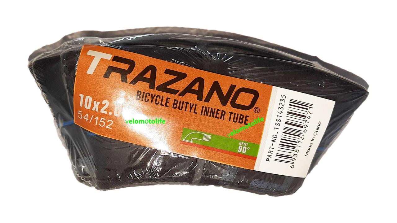 "Велокамера 10Х2 (кривой сосок) ""TRAZANO"""