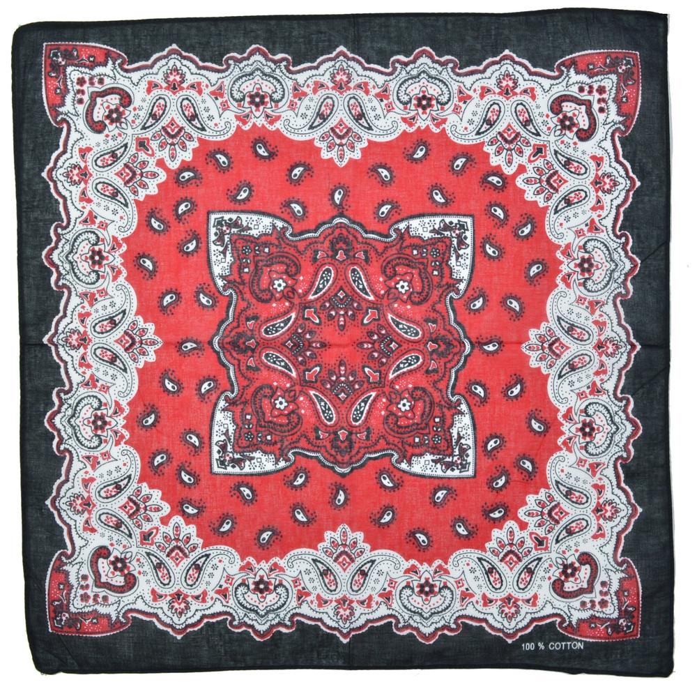 ⭐Бандана класична чорно-червона Tribe