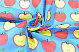 ⭐Бандана из хлопка классическая голубая  Lovely Apple, фото 3
