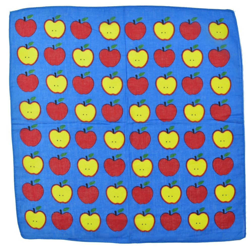 ⭐Бандана из хлопка классическая голубая  Lovely Apple