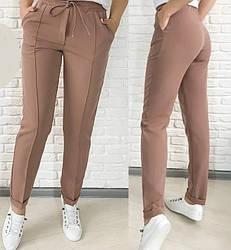 Женские брюки с высокой талией р.50-54