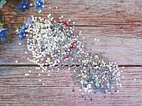 """Наполнитель для пакет-шейкера для аквабантиков, """"Сердечко"""", 3х3 мм, цвет серебро (голограмма), 10 грамм"""